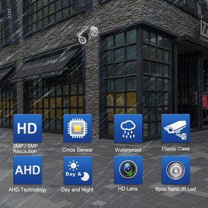 Image 2 - Smar New Super HD 3MP/5MP AHD Camera Waterproof 6* Nano IR LEDS Security Camera  AHDH System Video Surveillance With Bracket