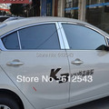 For KIA K3 stainless steel car styling window decoration sill trim protector sill board scuff plate strip guard