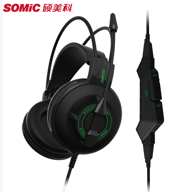 SOMIC G925 Gaming Headset Super Bass Stereo Surround Sound Over-Ear Game Headphone with Mic for PC PS4 XBOX Gamer Big Earphone все цены