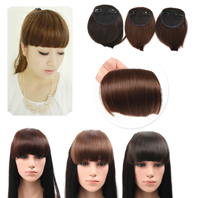 Fashion Lady Neat Front Straight Bangs False Hair Extension Hair