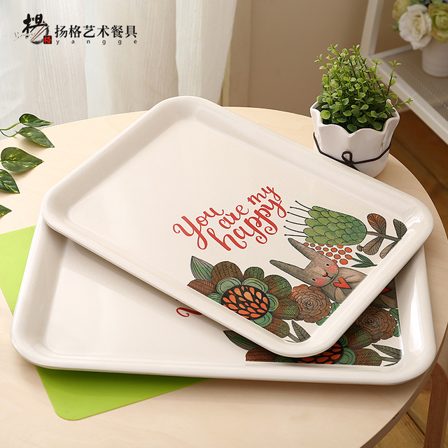 Tableware Cartoon Tray Plates High Quality Fashion Classic Children Kid Catering chain Restaurant Animal tree design & Tableware Cartoon Tray Plates High Quality Fashion Classic Children ...