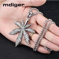 Mdiger Male Maple Pendant Necklace Titanium Steel Necklaces For Men's Steel Male Necklaces Pendants Necklaces jewelry 3 PCS/LOT