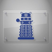 Graphics Dalek Decal Sticker Inspired By the Show Doctor Who for Car Window, Laptop, Motorcycle, Walls, Mirror and More