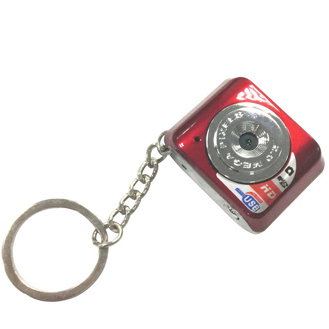 Free Shipping Red Black 180mAh Lithium Polymer Battery Camcorder Web Camera Tiny Keychain Pocket Toy Hidden Cam Audio Recorder