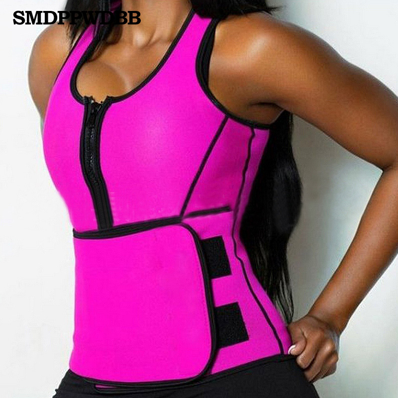 Hot Shapers Neopren Sauna Waist Trainer Vest Workout Shaperwear Slimming Adjustable Sweat Belt Fajas Body Shaper Slim Underwear