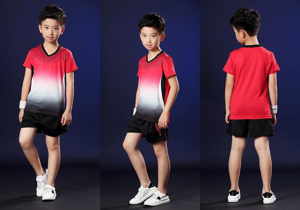 T-shirt das crianças, camisa do tênis, sportswear respirável