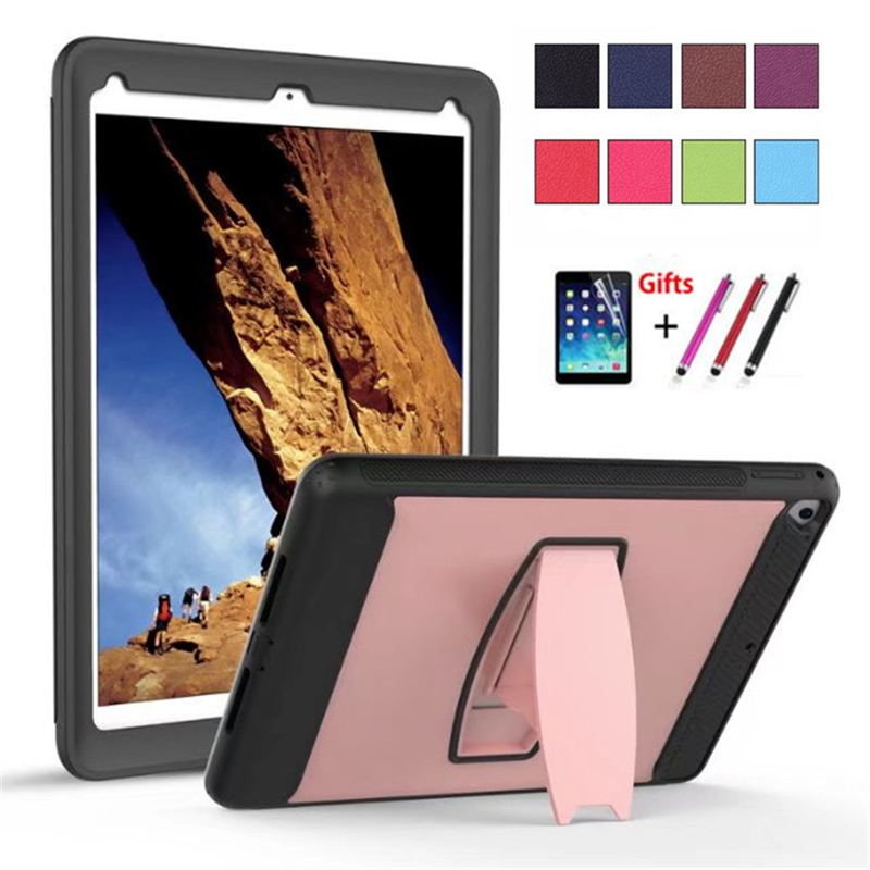 360 Full protection Case For iPad Pro 9.7 inch 2016 Release Kids Safe Shockproof Soft Silicone Armor Cover stand hold function