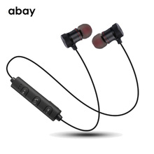 Bluetooth wireless Earphone with Mic super Bass sport Hifi Magnetic  headphones Headset Stereo Earbuds for moblie phone все цены