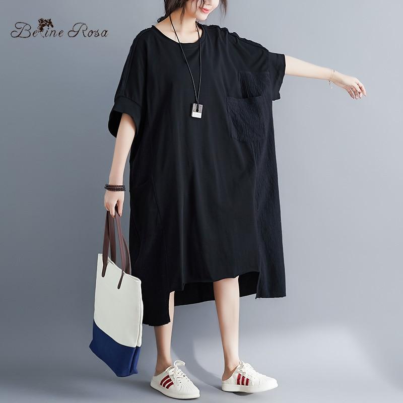 Image 5 - BelineRosa Muslim Style Womens Shirt Dress Big Sizes Dress 4XL  5XL 6XL Plus Size Dress T shirts Dresses Female YPYC0012Dresses   -