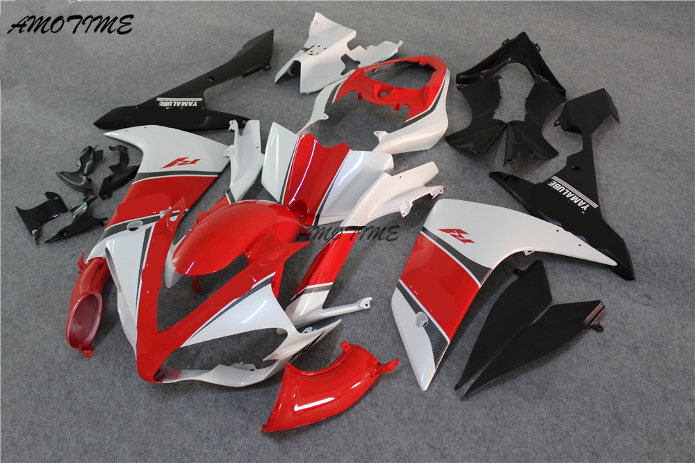 Injection Motorcycle Fairing kit for Yamaha YZF R1 07 08 YZF R1 2007 2008 YZF1000 ABS Red white black Fairings all matte black yzf r1 2007 fairing set for yamaha 2008 yzfr1 07 08 abs plastic body kits free shipping
