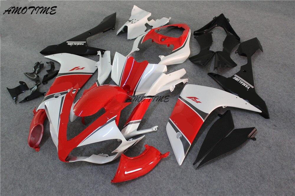 Kit de carénage de moto d'injection pour Yamaha YZF R1 07 08 YZF R1 2007 2008 YZF1000 ABS rouge blanc noir carénages