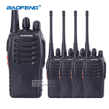4pcs Bao Feng Walkie Talkies with Headsets UHF Frequency Portable Ham Radio Communicator Baofeng bf-888s Amateur Radio Station