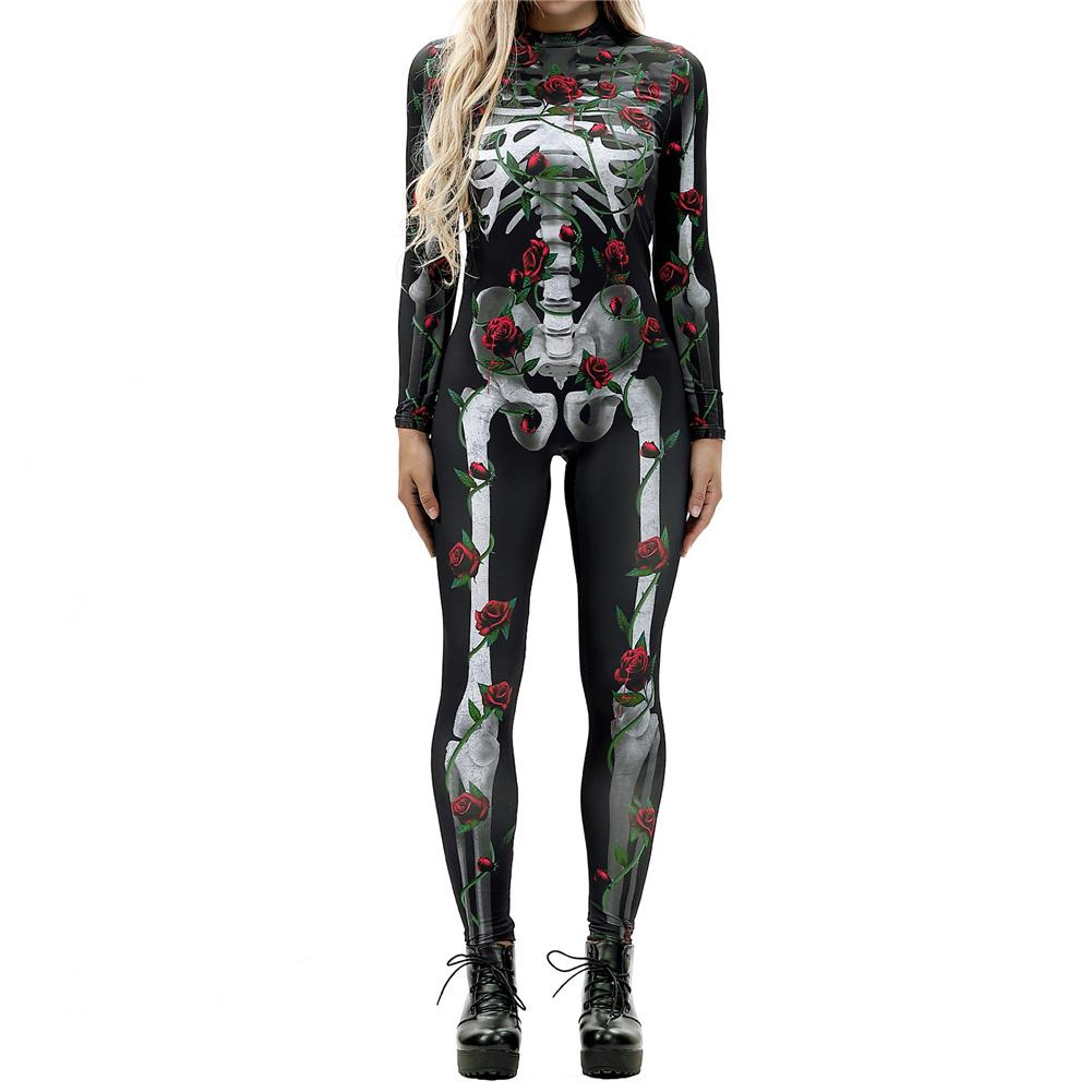 Image 4 - Halloween Costumes For Women Horror Zombie Costume Female Sexy Skeleton Costume Halloween Clothes Jumpsuit Bodycon S XL-in Scary Costumes from Novelty & Special Use