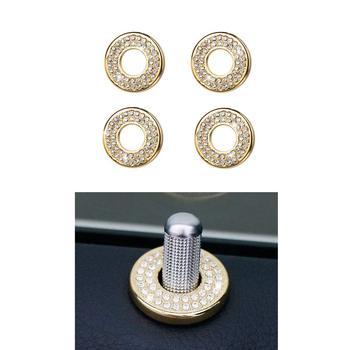 Door Lock Pins Caps Mercedes Benz Accessories Parts Bling Inner Covers Decals Sticker Interior Inside Decorations AMG Women