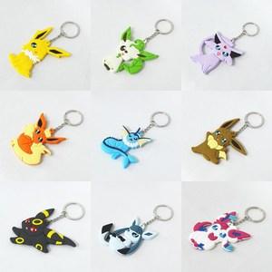 Eevee Vaporeon Jolteon Flareon Espeon Umbreon Leafeon Glaceon Sylveon 8cm Anime PVC Keychain Pendants Birthday Gift