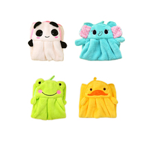 Новые милые животные конфеты цвета мягкий коралловый бархат мультфильм животных полотенце можно повесить Кухня используется