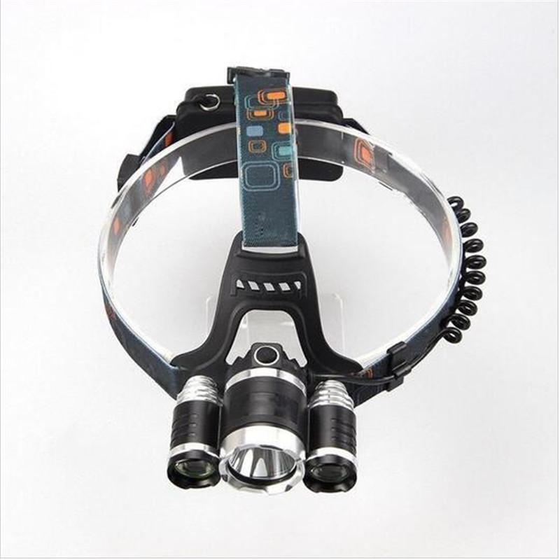 Best 5000LM CREE XM-L T6 +2xR2 Headlamp headlight 4 modes 18650 echargeable Head Torch Lamp +Car Charger +EU/US ChargerLantern