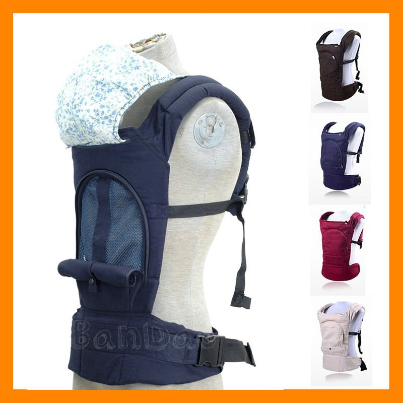 2018 Breathable Mesh Design Summer Baby Sling Carrier Toddler Wrap Ride Multi-functional Kdis Outwards Cotton Inwards Backpack