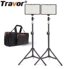 Travor 2 in 1 Photography 160 LED Studio Lighting Kit  Dimmable Ultra High Power Panel Digital Camera DSLR Camcorder LED light