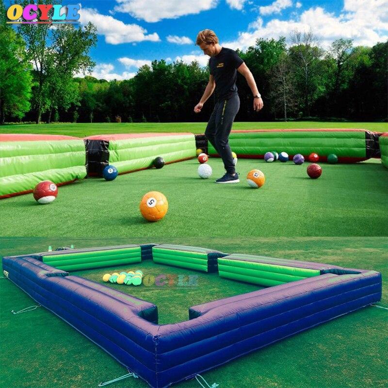 Livraison air gratuite à porte, 8*5 m/12*6 m gonflable football snook de table à billes, de billard de billard table de billard de football