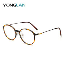 2019 New TR90 Round ULTEM Design Glasses Frame Women Men Myopia Eyewear Clear Lens Gafas Optical