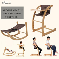 SUFEILE Multifunctional Baby Chair Ergonomic Kneeling Chair Stool Ergonomic Rocking Wooden Kneeling Computer Posture Chair D50