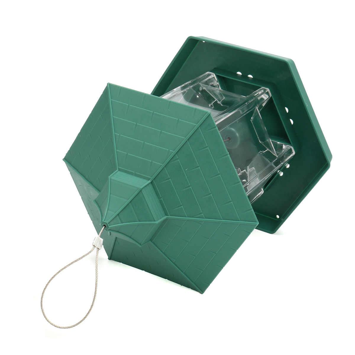 23*20 センチメートルグリーンパビリオン鳥の餌箱プラスチック鳥食品容器屋外防水鳥の餌箱ペット用品ガーデン装飾
