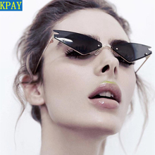 2019 KPAY Cat eye Sunglasses Frame Women Vintage Gradient Glasses Retro Sun glasses Female Triangle Eyewear UV400