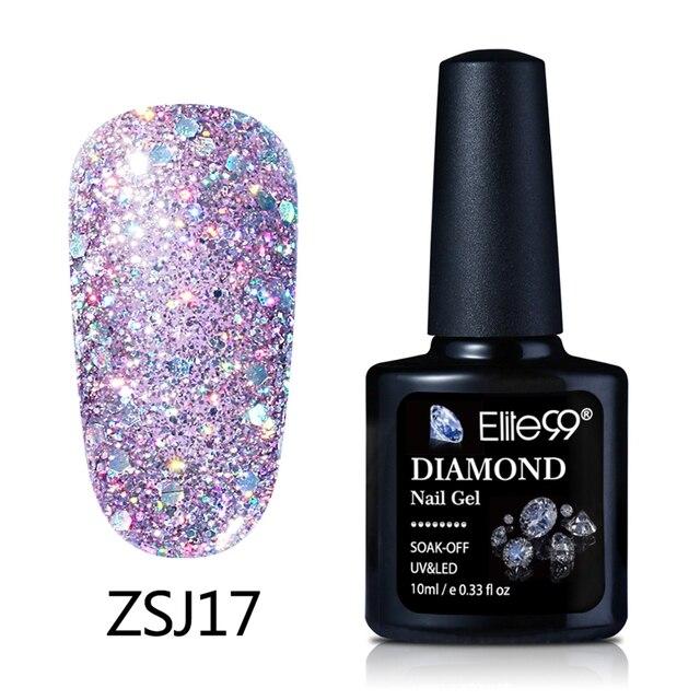 Elite99 10ml LED Nagellack Tränken Weg Von 3D Shiny Diamant Gel Nagel FÜHRTE Nagel Gel Lack Schimmer Farbe Glitter gelPolish Lack