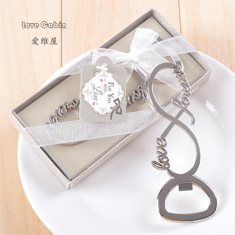 Top 100 Wedding Gifts: 100pcs Love Forever Bottle Opener Wedding Favors And Gifts