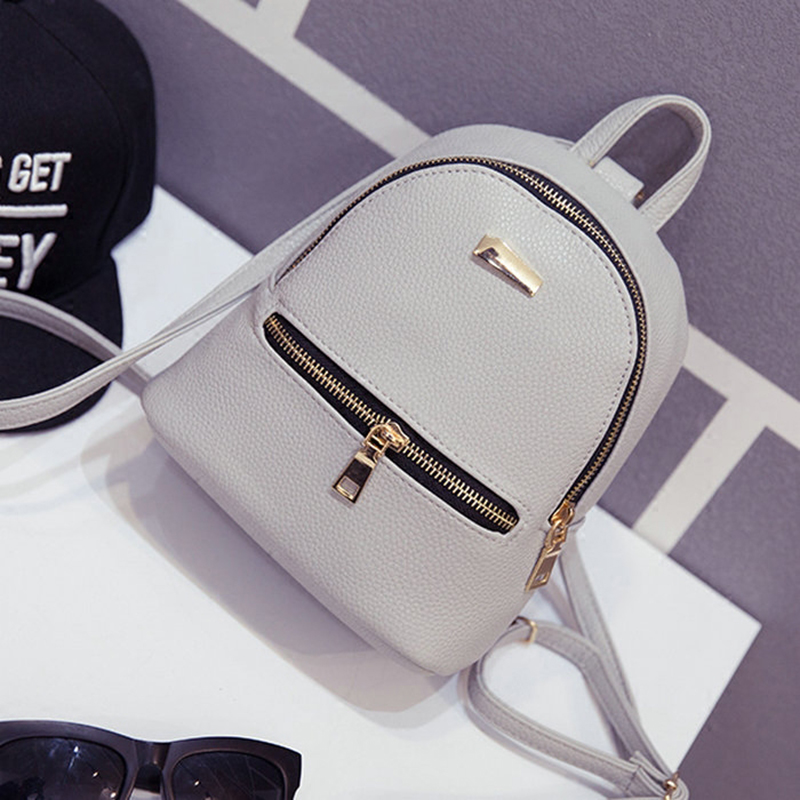Summer New Female Bag Quality Pu Leather Women Bag Korean Version Sweet College Students Mini Backpack Girls Small Bags