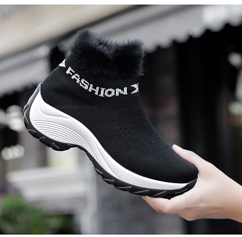 STS BRAND 2019 New Winter Ankle Boots Women Snow Boots Warm Plush Platform Sneakers Breathable Mesh Sneakers Travel Casual Shoes (9)
