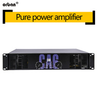 High power professional power amplifier CA6 pure rear grade 500W audio power amplifier ktv stage power amplifier 2U