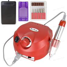 Professional Red Colors Electric Nail art Drill File Manicure Kit 220V Eu Plug Nail Tools for Nail Manicure Drill 30000RPM