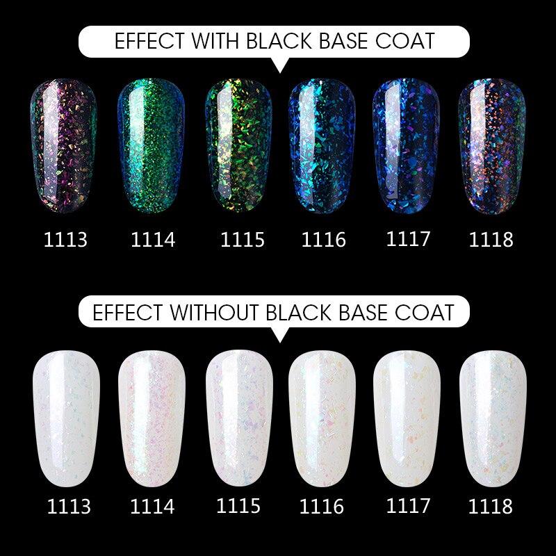 Modelones Galaxy Color UV Nail Gel Polish Shiny Glitter Led Gel Nail ...