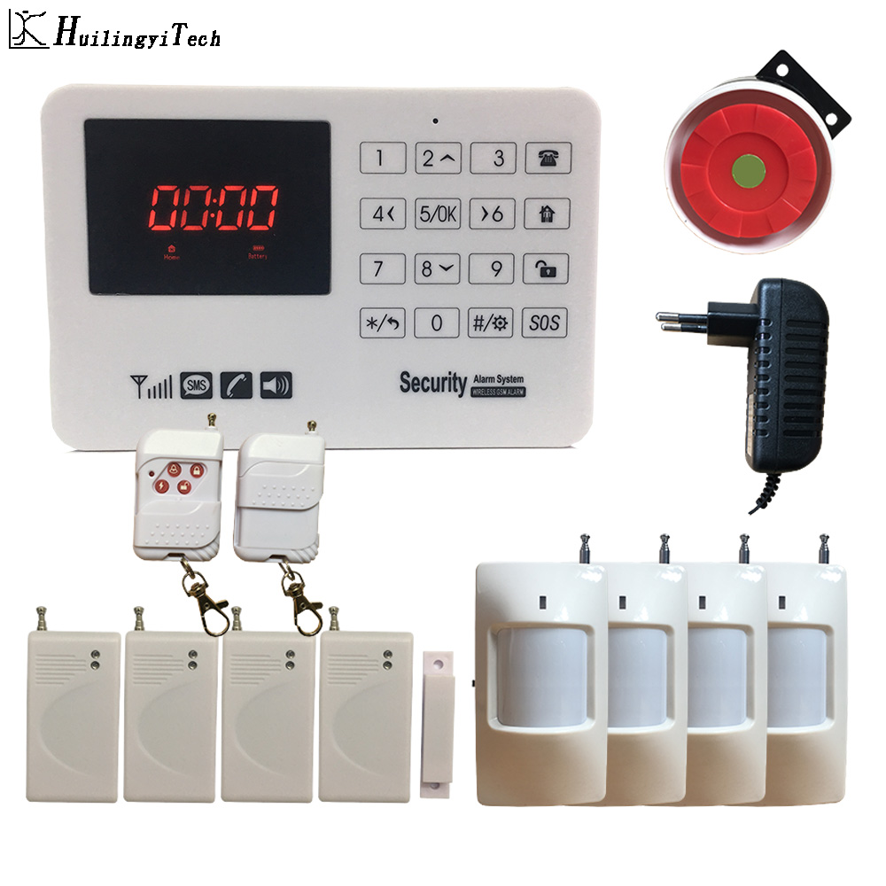 Wireless GSM Alarm Security Hom Alarm System DIY Kit Control With Auto Dial Motion Detector Sensor Home Burglar Alarm System