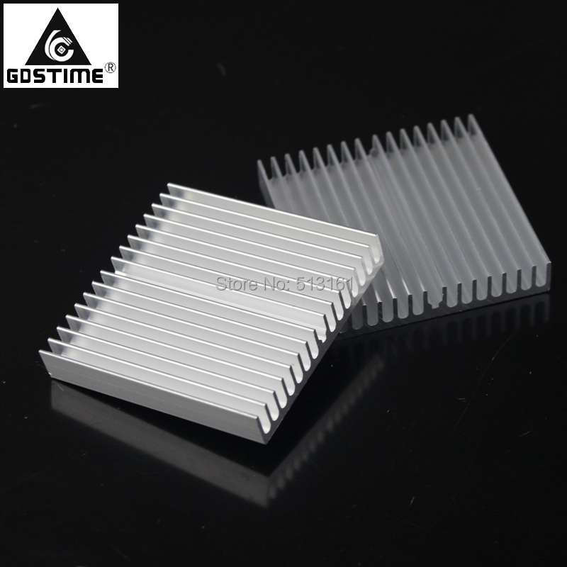 Купить с кэшбэком 5pcs/lot Gdstime Aluminum Heatsink 60x60x10mm Heat Sink Electronic Computer Electrical CPU Cool RAM