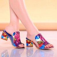 Rhinestone PU Fish Mouth Toe Heels Women Sandals 2017 Sexy Shoes Woman High Heels Sandals