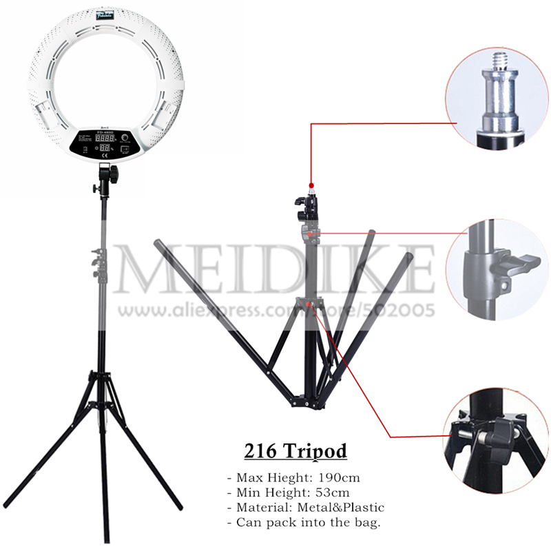 Yidoblo 96W Ring Light FD-480 Pro Beauty Studio LED Ring lamp Kit 480 LEDS Video Light Lamp Makeup Lighting + stand (2M)+ bag