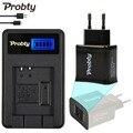 Probty np-bk1 npbk1 lcd carregador usb + 2 porta usb plug para sony s750 s780 s950 s980 w180 w190 w370 dsc-s950 camera