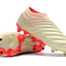 Venta caliente 2019 ZUSA Copa 19 + FG blanco Solar rojo zapatos de fútbol  para hombre al aire libre botas de fútbol precio barat. 579d321ad1dd7
