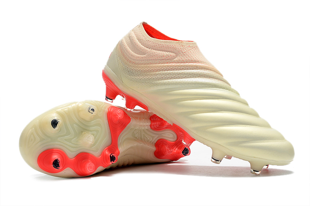buy online cfcef 88dc2 Hot Sales 2019 ZUSA Copa 19+ FG OFF white Solar Red Soccer Shoes Mens  Outdoor