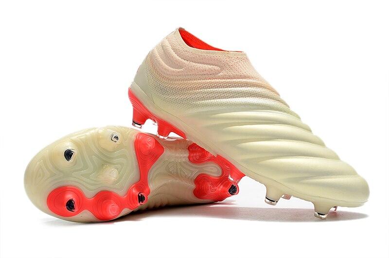 Offres spéciales 2019 ZUSA Copa 19 + FG blanc cassé solaire rouge chaussures de Football hommes en plein air Football bottes pas cher prix