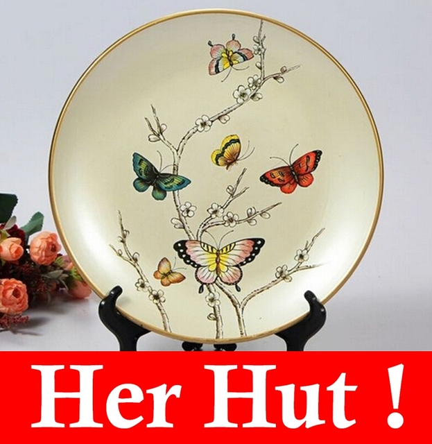 Free Shipping Gifts Handcrafts Porcelain Ceramic Decoration Hand Painted Bird Flower Painting Wall Plate Fruit and & Free Shipping Gifts Handcrafts Porcelain Ceramic Decoration Hand ...