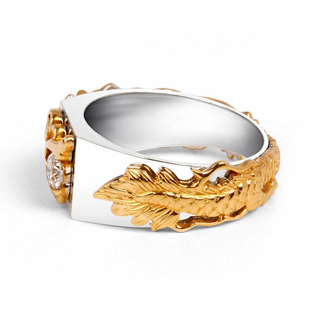 แฟชั่น Party หมั้นแต่งงานมังกรแหวนเพชรบุคลิกภาพบุคลิกภาพ Creative และผู้หญิงแหวนคริสต์มาส 9.17