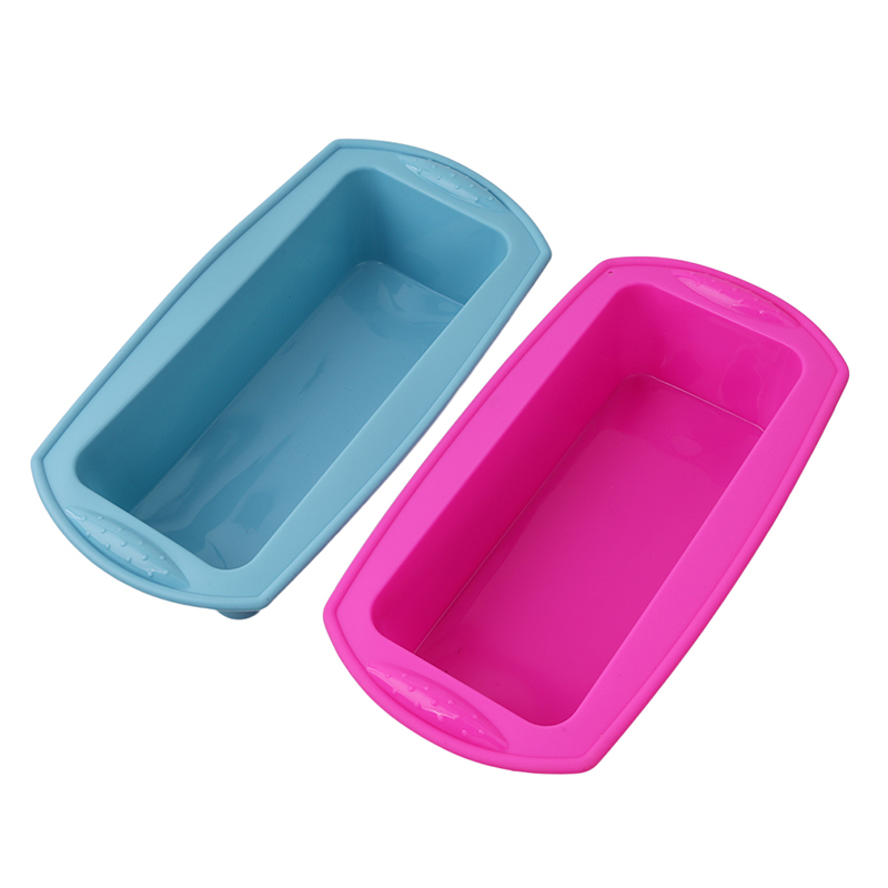 Silicone Rectangle Shape Toast Bread Mold Jelly Ice Baking