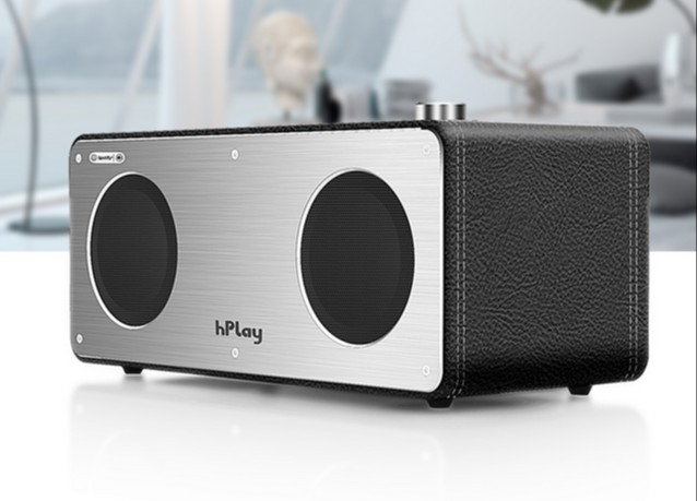40w portable wireless wifi bookshelf speaker support airplay/dlna/spotify fm and led light with aux in