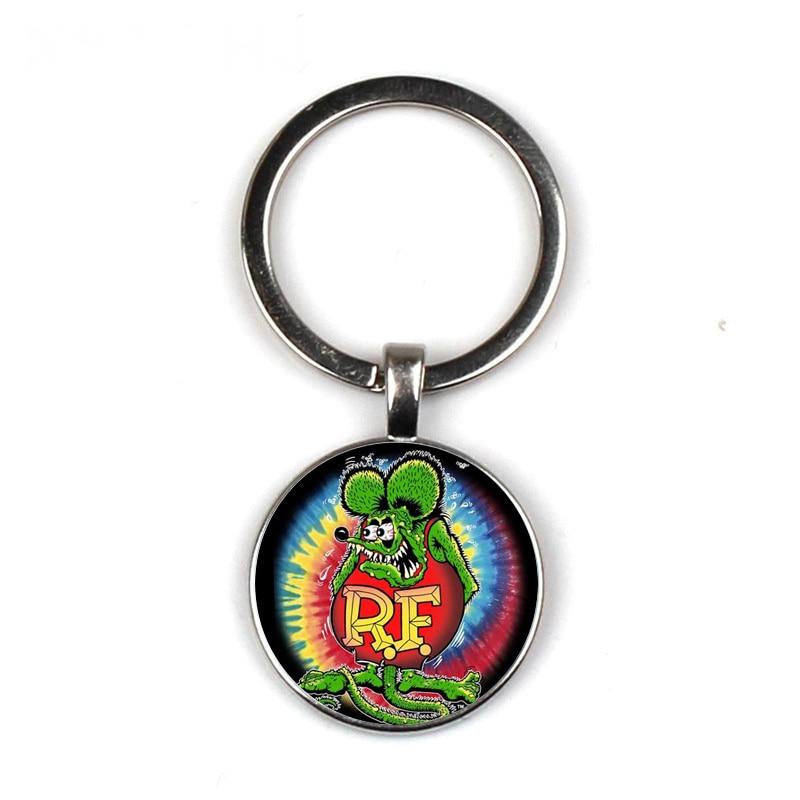 Big Daddy Rat Fink Key Ring Ed Roth Tassel New Pendant Time Gem Keychain 1Pcs