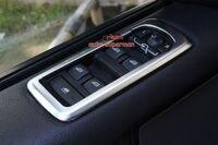 Cubierta de marco de panel de interruptor de ventana cromado mate para Range rover sport 10-2013
