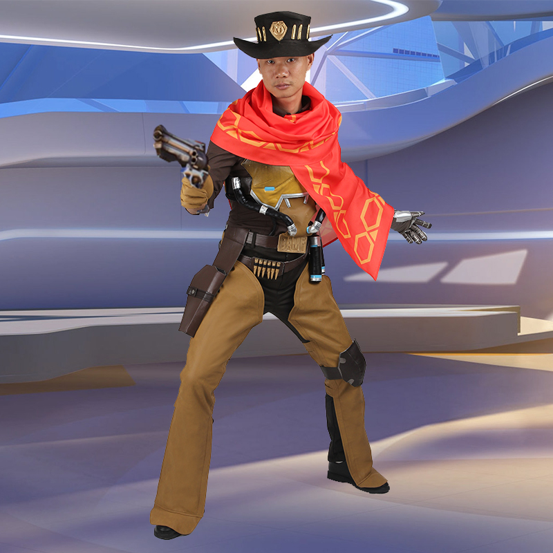 Jesse McCree Cosplay Costumes Hot Game Cosplay Clothing Superhero Props One Set font b Suit b